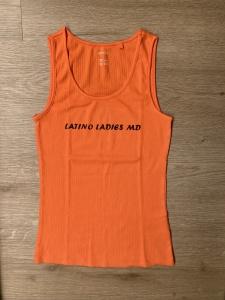 Bavlněný nátělník - oranžový